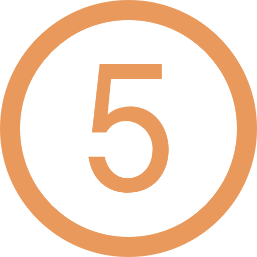 number-five-in-circular-button