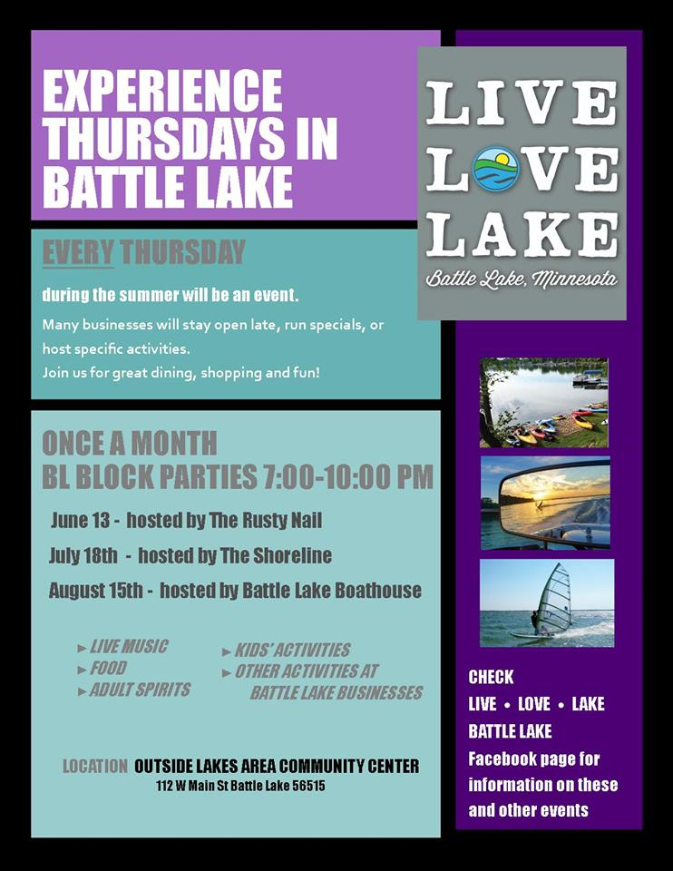 Battle Lake Block Party 2019 - Otter Tail Lakes Country