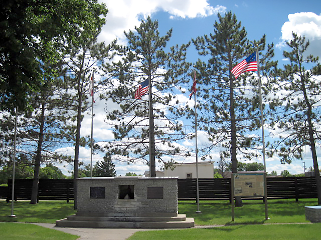 Continental Divide Monument in New York Mills. Minnesota